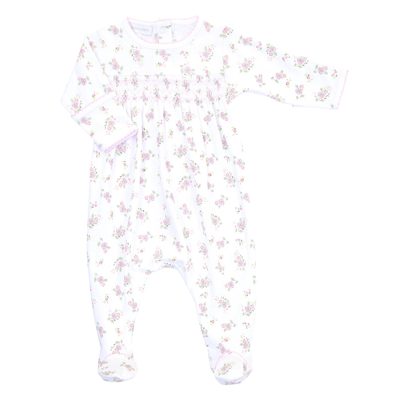 Magnolia Baby Essentials Hope's Rose Smocked Footie