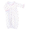 Magnolia Baby Essentials Hope's Rose Print Ruffled Gown - Personalization Available