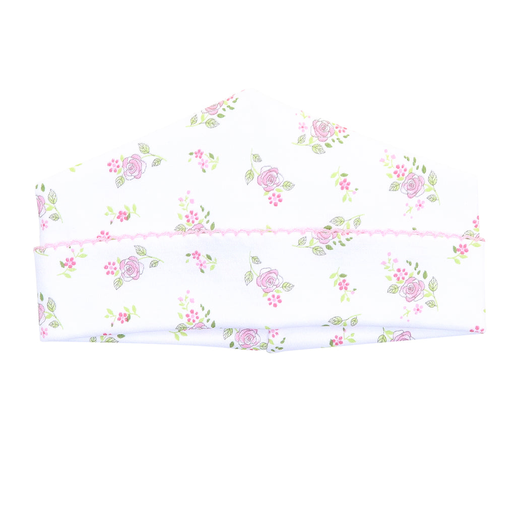 Magnolia Baby Essentials Hope's Rose Print Hat - Personalization Available
