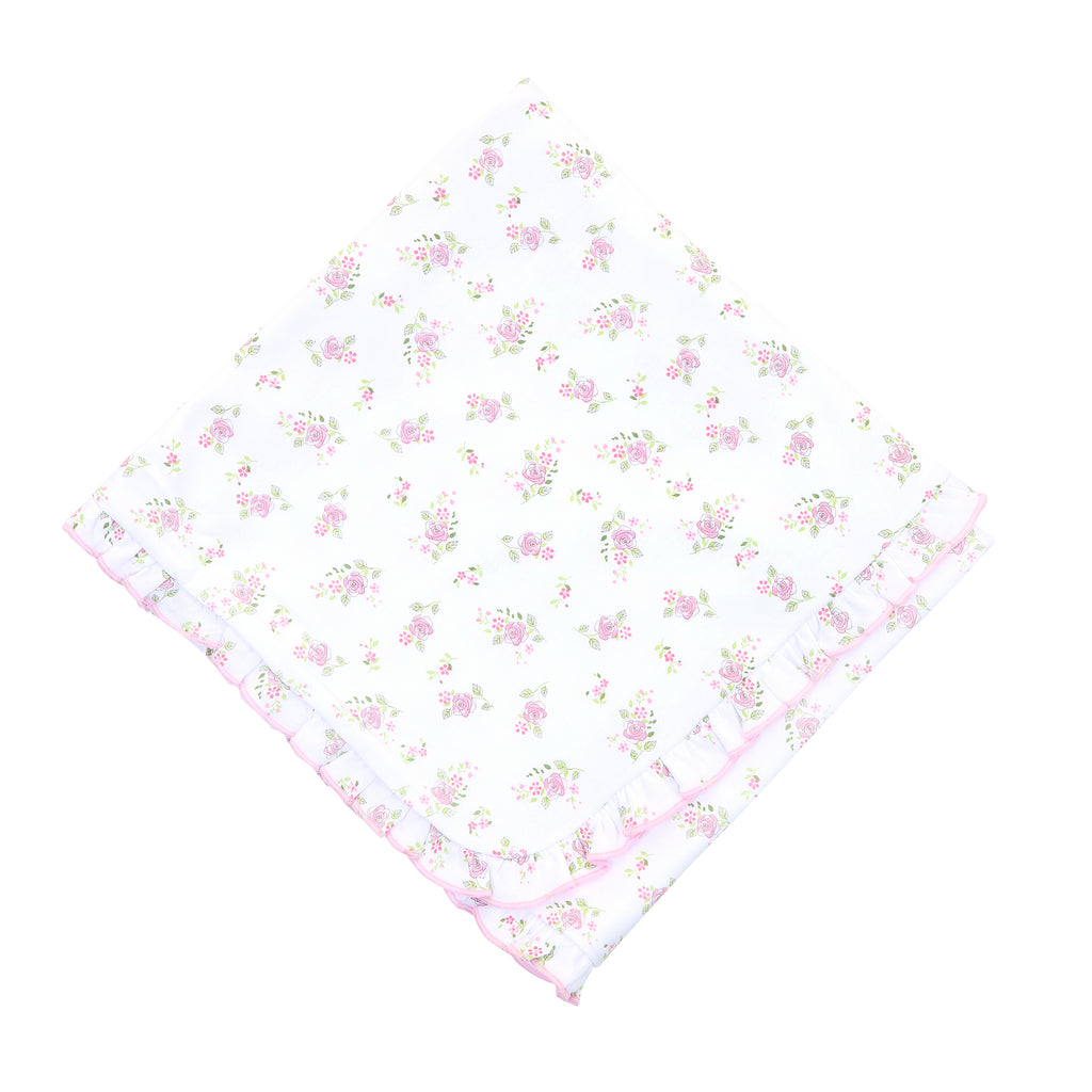 Magnolia Baby Essentials Hope's Rose Ruffle Blanket