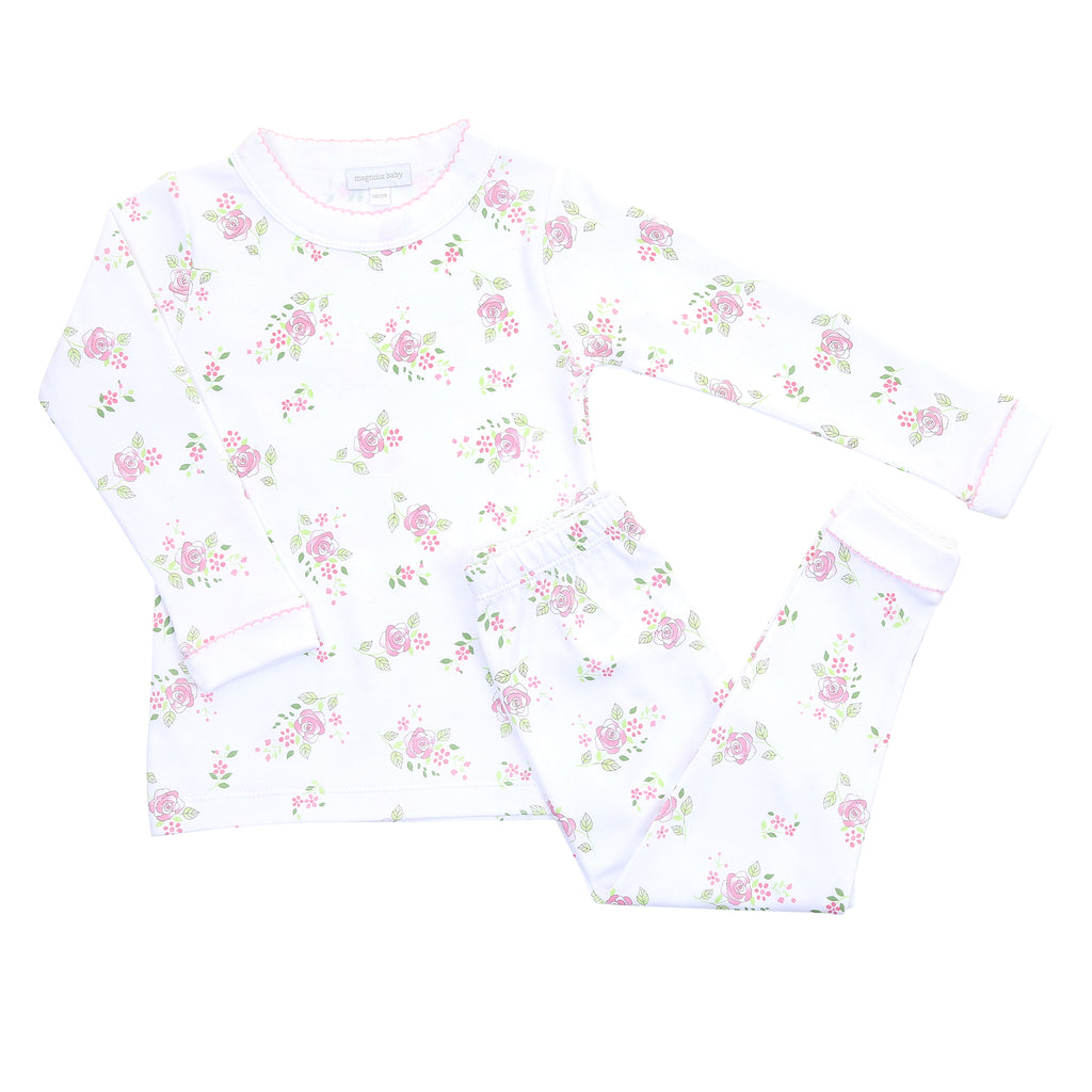 Magnolia Baby Essentials Hope's Rose Long Pajamas - Personalization Available