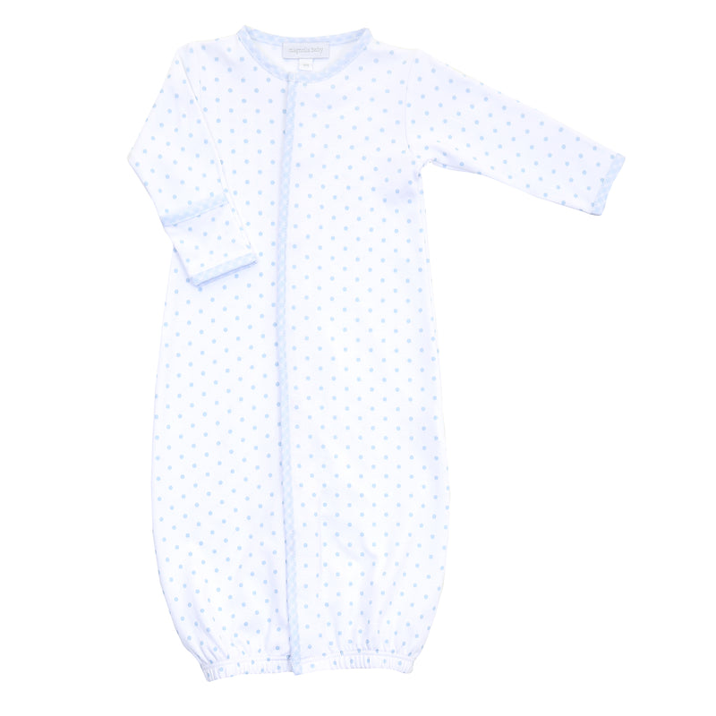 Magnolia Baby Essentials Blue Gingham Dots Converter Gown - Personalization Available