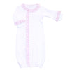 Magnolia Baby Essentials Pink Gingham Dots Ruffle Converter - Personalization Available