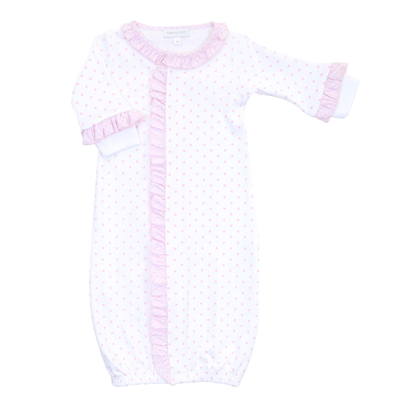 Magnolia Baby Essentials Pink Gingham Dots Ruffle Converter