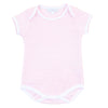Magnolia Baby Essentials Pink Mini Stripe Short Sleeve Bodysuit - Personalization Available