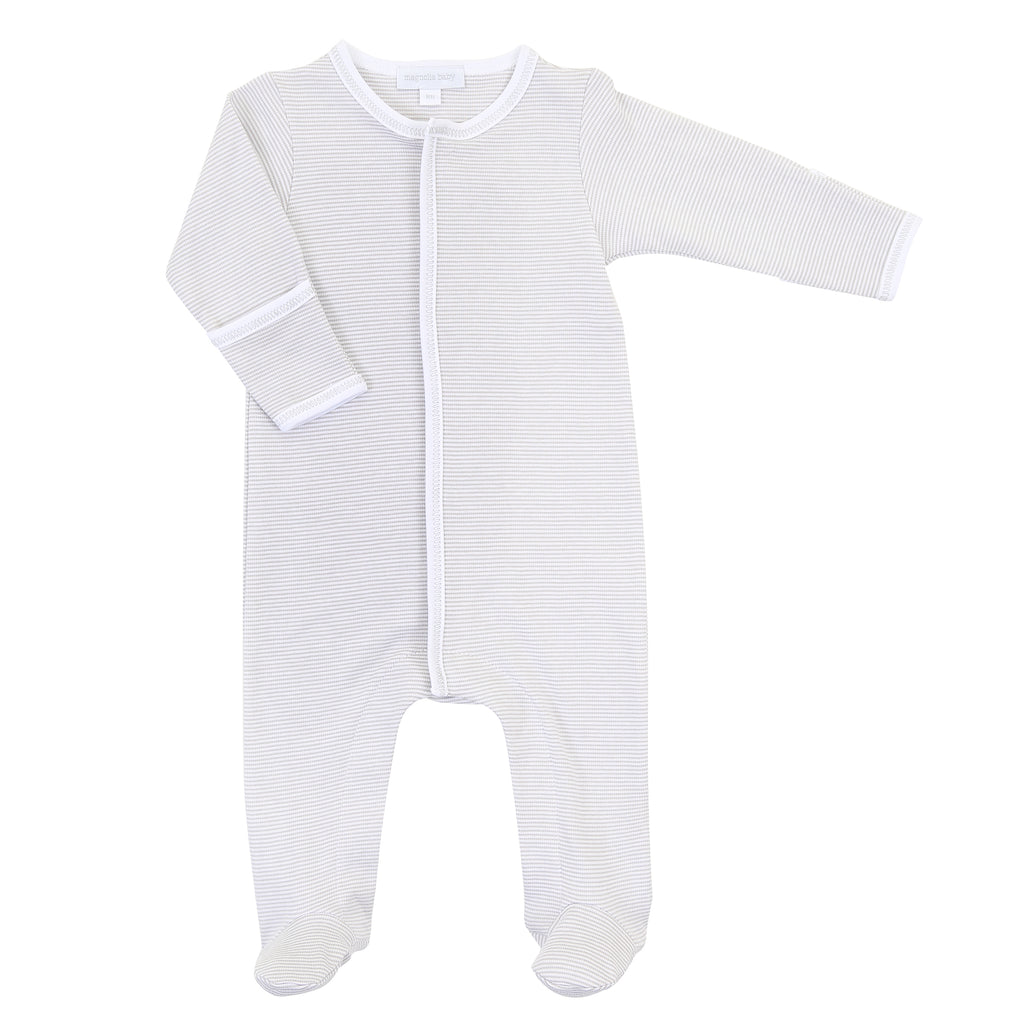 Magnolia Baby Essentials Unisex Mini Stripe Footie - Personalization Available