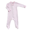 Magnolia Baby Essentials Pink Mini Stripe Zip Footie - Personalization Available