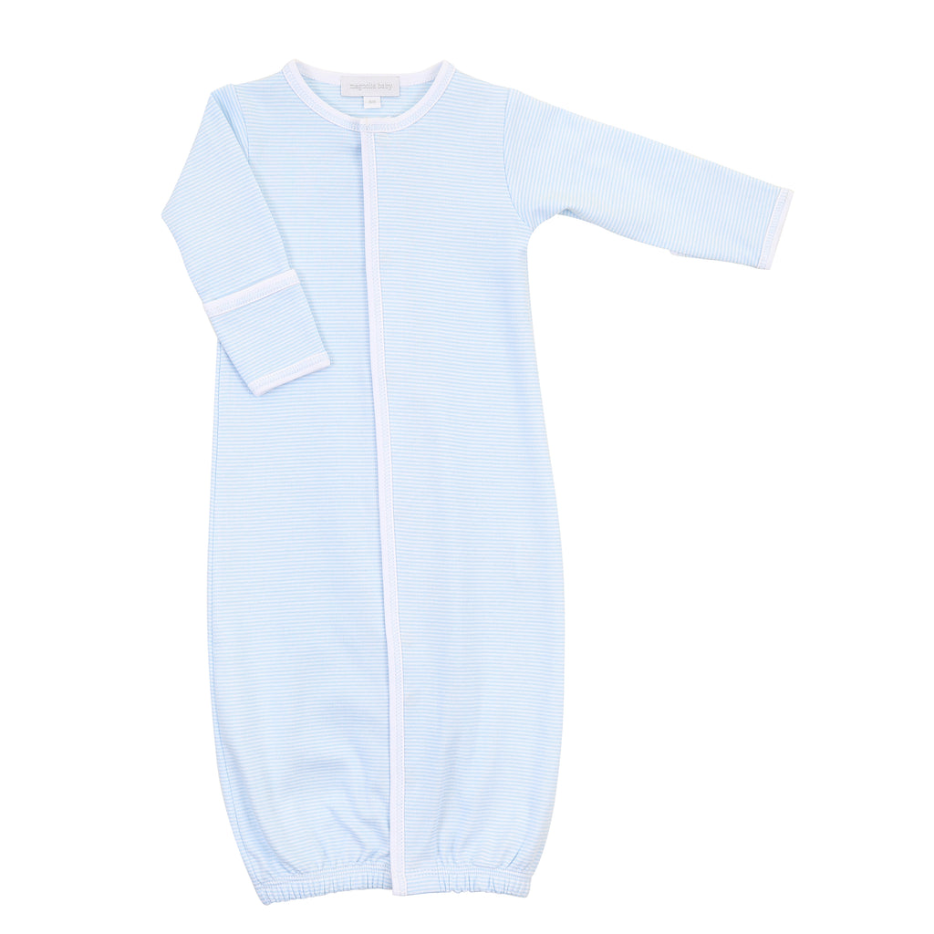 Magnolia Baby Essentials Blue Mini Stripe Converter Gown - Personalization Available