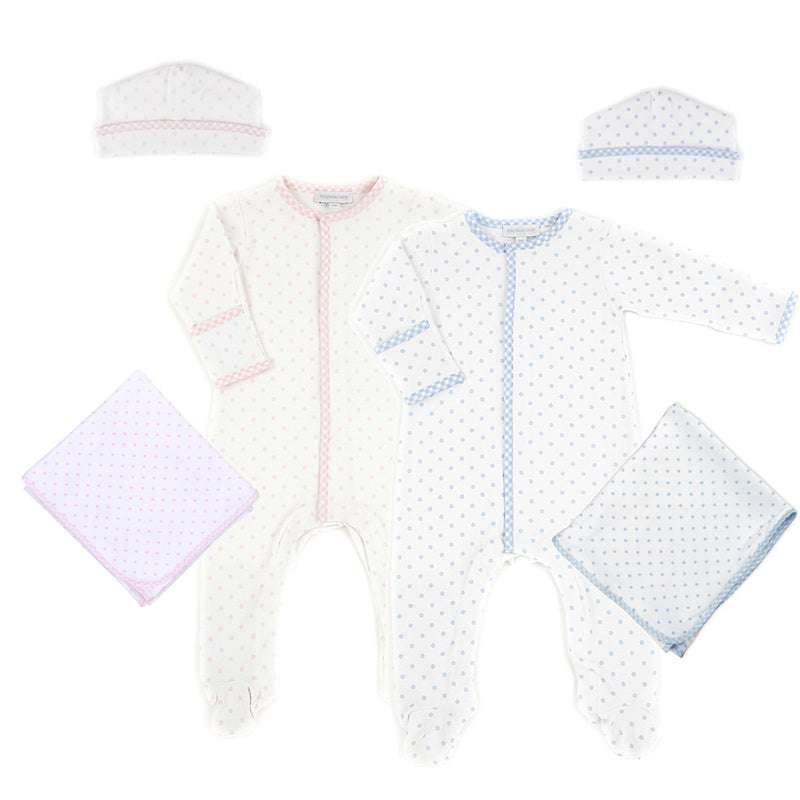 Magnolia Baby Gingham Dots Twin Gift Set