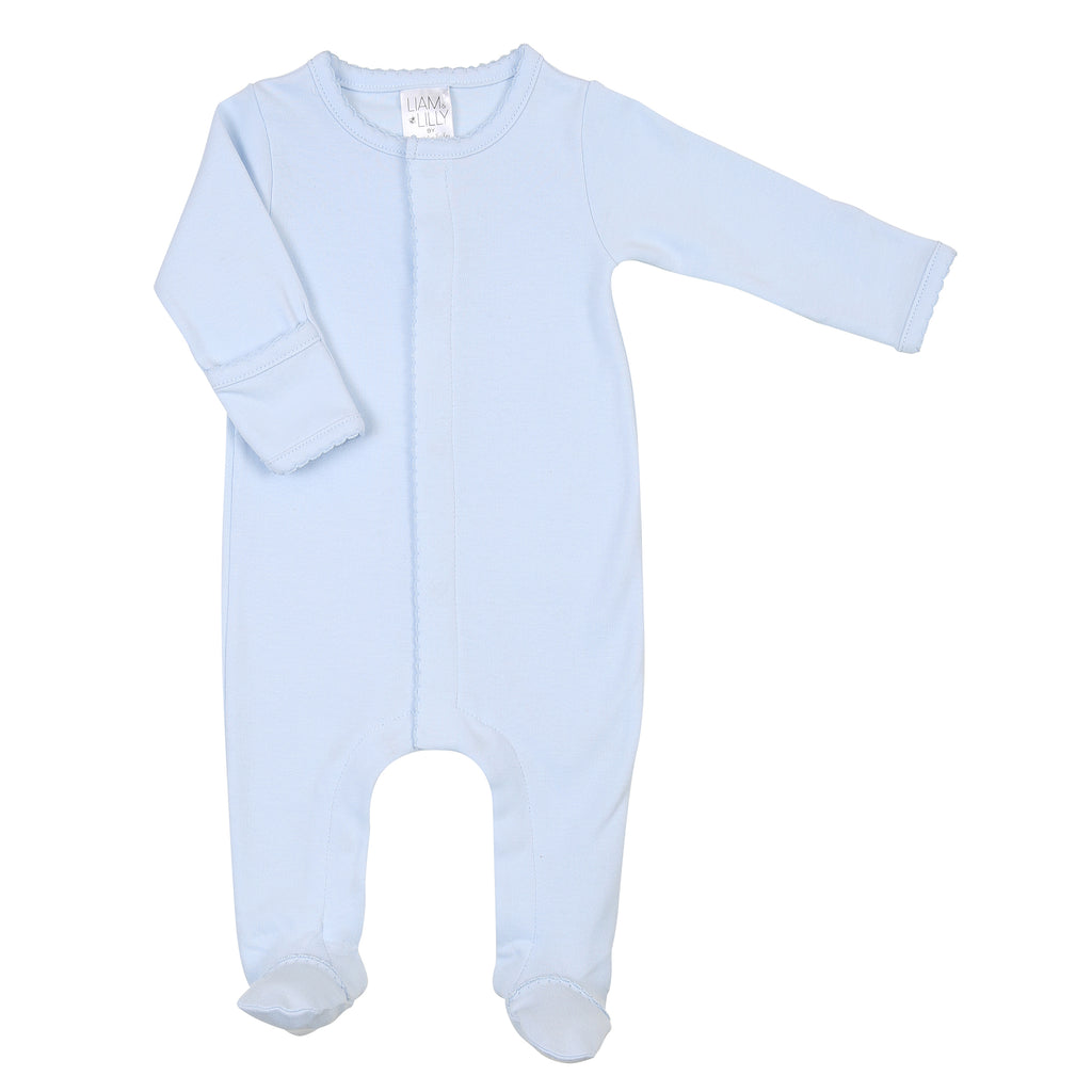 Liam & Lilly Bespoke Blue Footie - Personalization Available