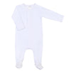 Liam & Lilly Bespoke White Footie - Personalization Available