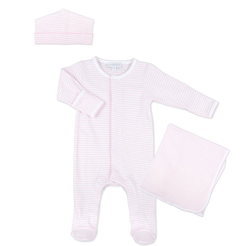 Magnolia Baby Girl Twin Converter Gown Layette Set - Pink Sweet Pea
