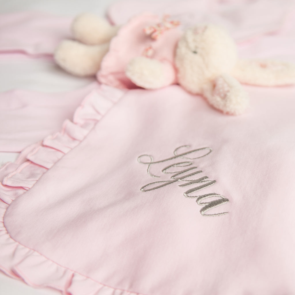 Magnolia Baby Essentials Pink Ruffle Blanket - Personalization Available