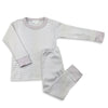 Magnolia Baby Essentials Grey Mini Stripe Long Pajamas - Personalization Available