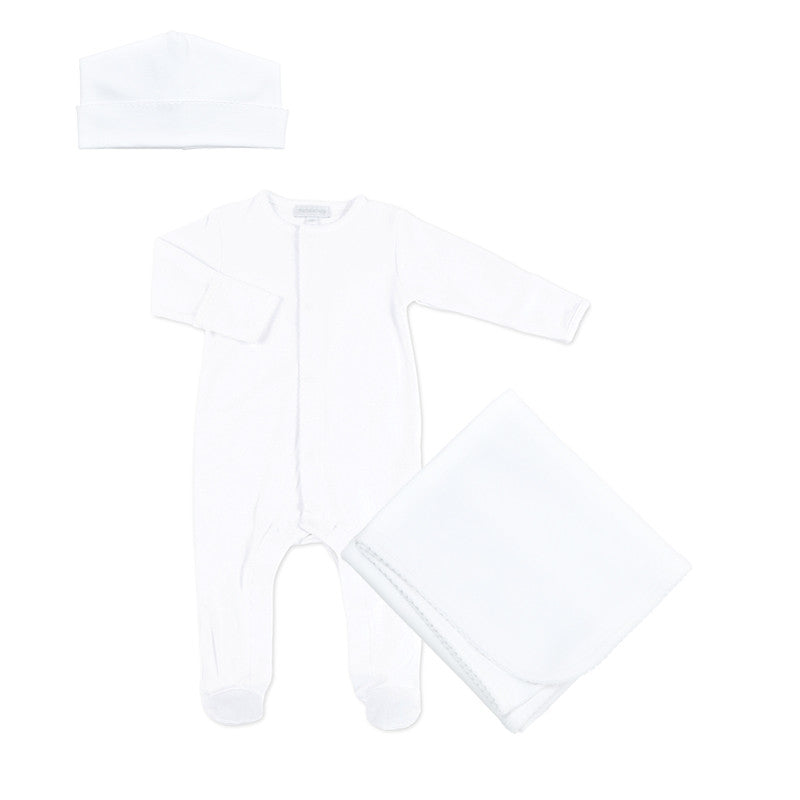 Magnolia Baby White Layette Sleepsuit Set