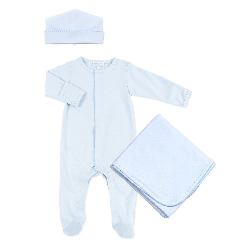 Magnolia Baby Blue Sleepsuit Layette Set