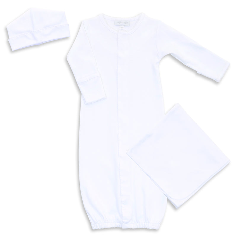 Magnolia Baby White Converter Gown Layette Set