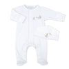 Magnolia Baby Unisex Embroidered Worth The Wait Footie + Hat Set