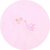 Magnolia Baby Essentials Worth the Wait Embroidered Pink Converter Gown