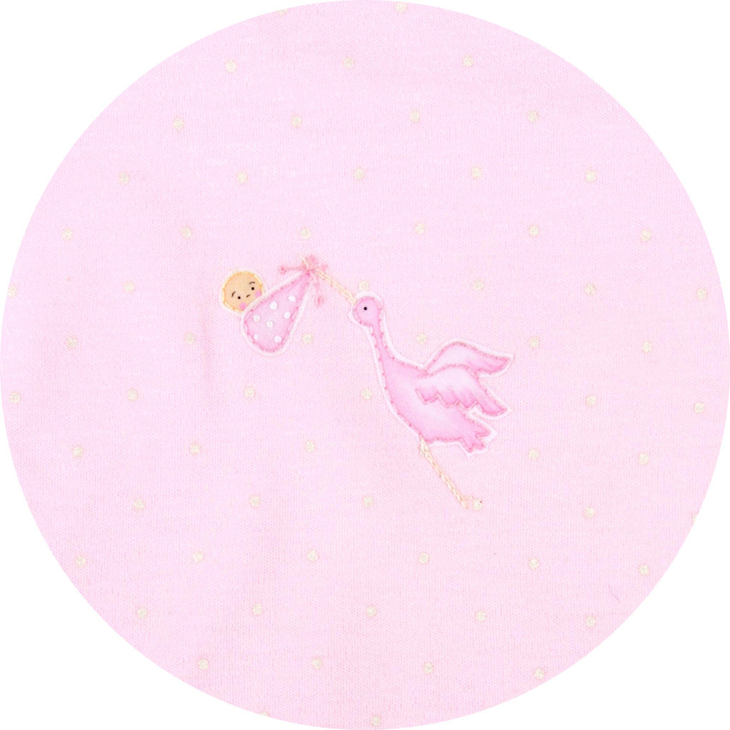 Magnolia Baby Essentials Worth the Wait Pink Bib