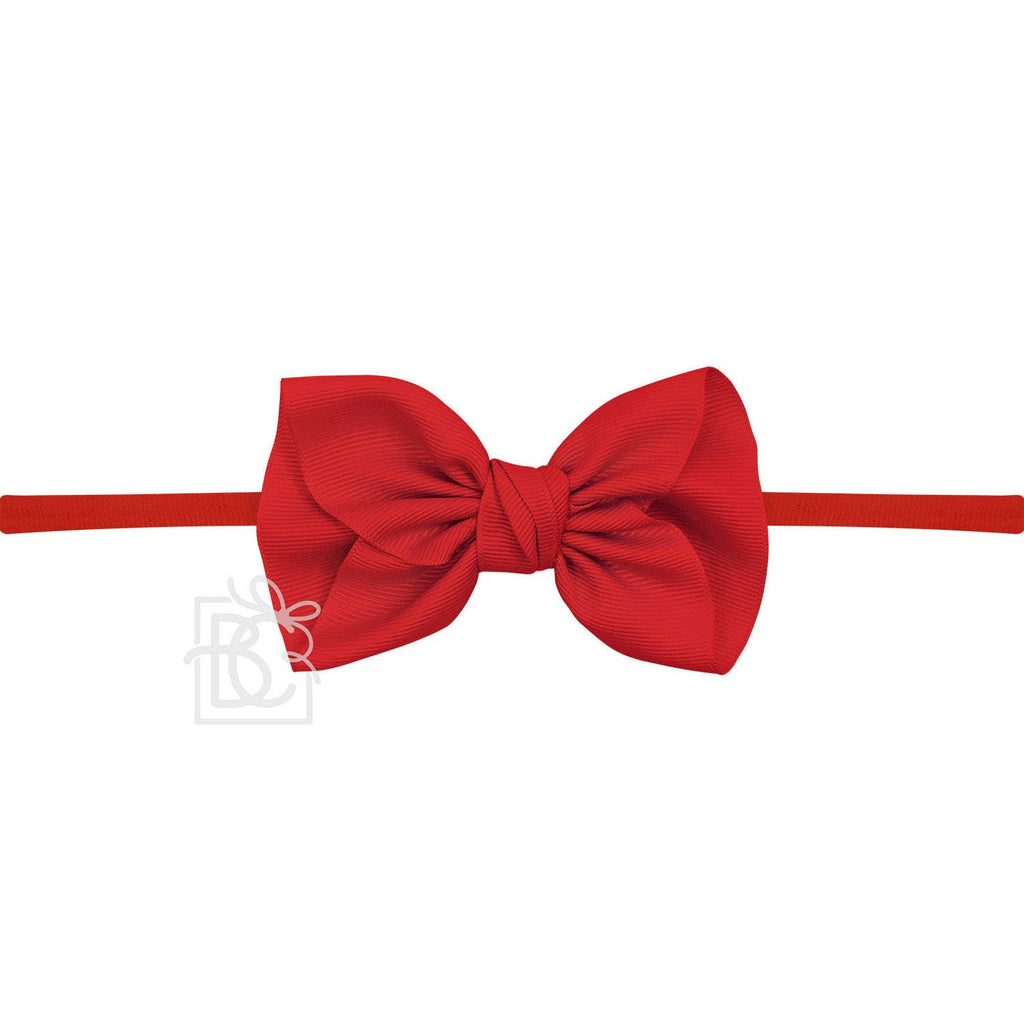 Anne Red Headband with Grosgrain Bow