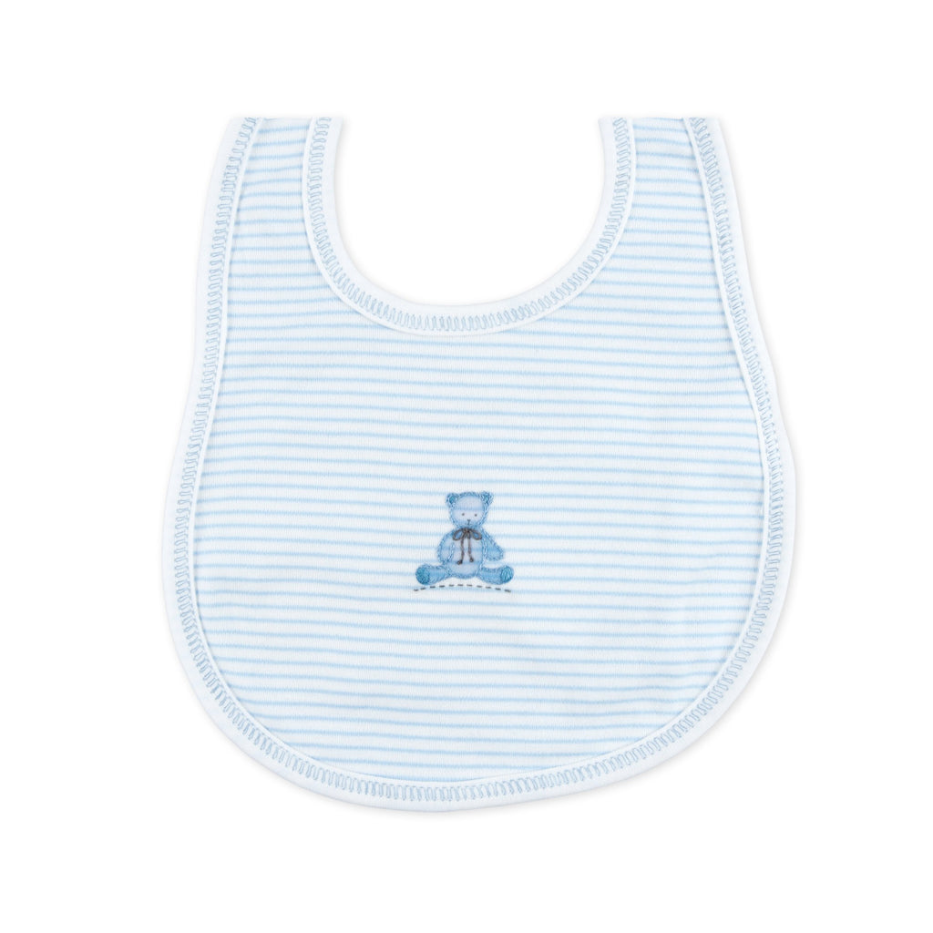 Magnolia Baby Essentials Blue Baby's Teddy Embroidered Bib