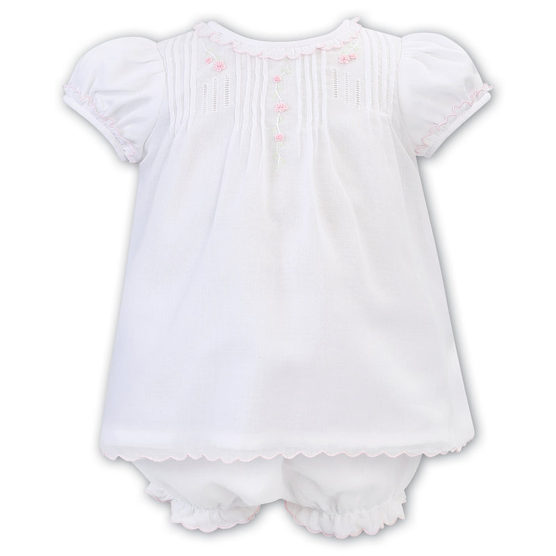 Sarah Louise White Embroidered Bloomer Set