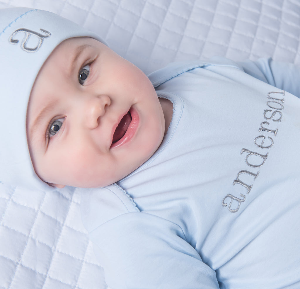 Magnolia Baby Essentials Blue 2 Piece Loungewear - Personalization Available