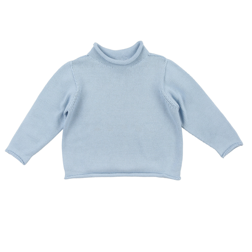 Light Blue Rollneck Sweater - Personalization Available