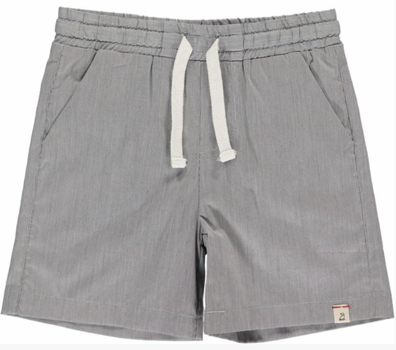 Me & Henry Grey Microstripe Swim Trunks