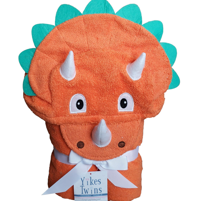 Triceratops Dinosaur Hooded Towel