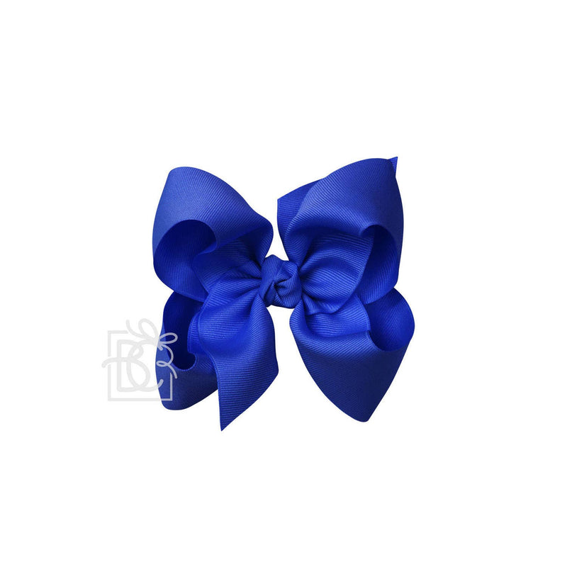 Signature Electric Blue Bow on Alligator Clip