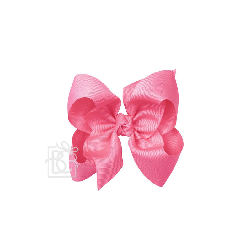 Signature Hot Pink Bow on Alligator Clip