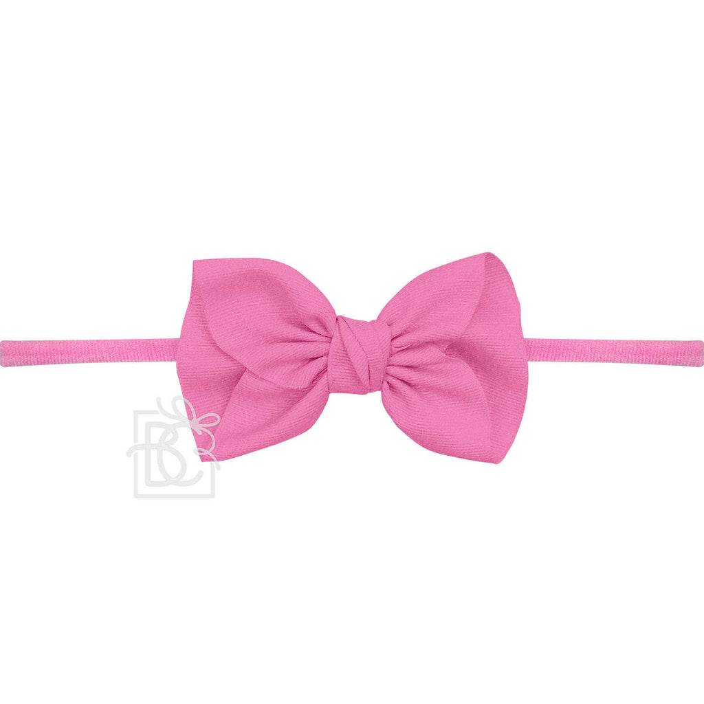 Anne Hot Pink Headband with Grosgrain Bow