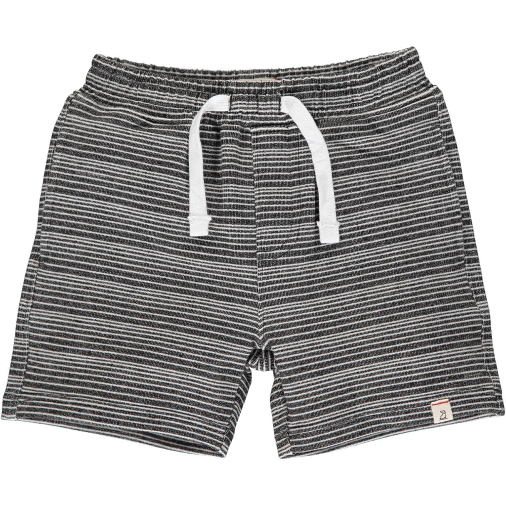 Me & Henry Charcoal & Grey Striped Sweat Shorts