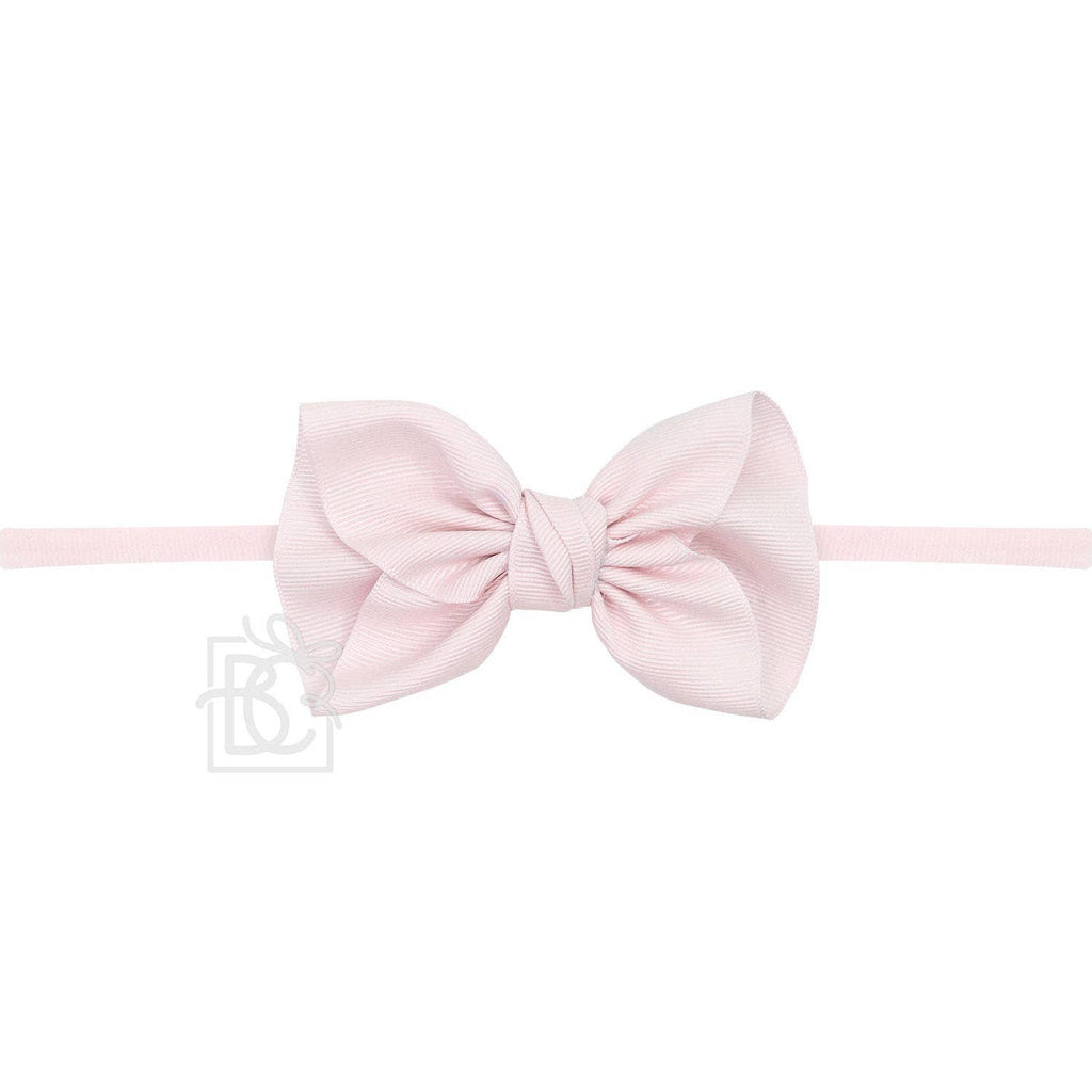 Anne Light Pink Headband with Grosgrain Bow