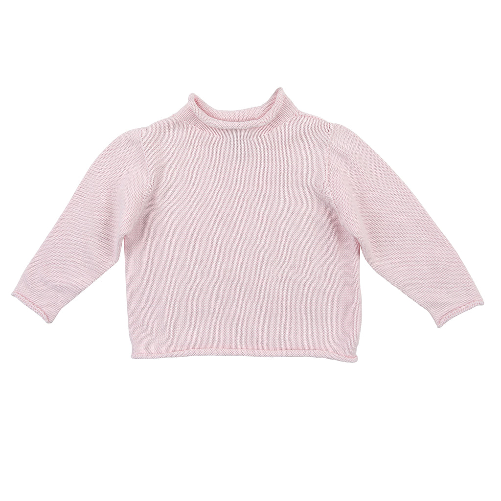 Pink Rollneck Sweater - Personalization Available