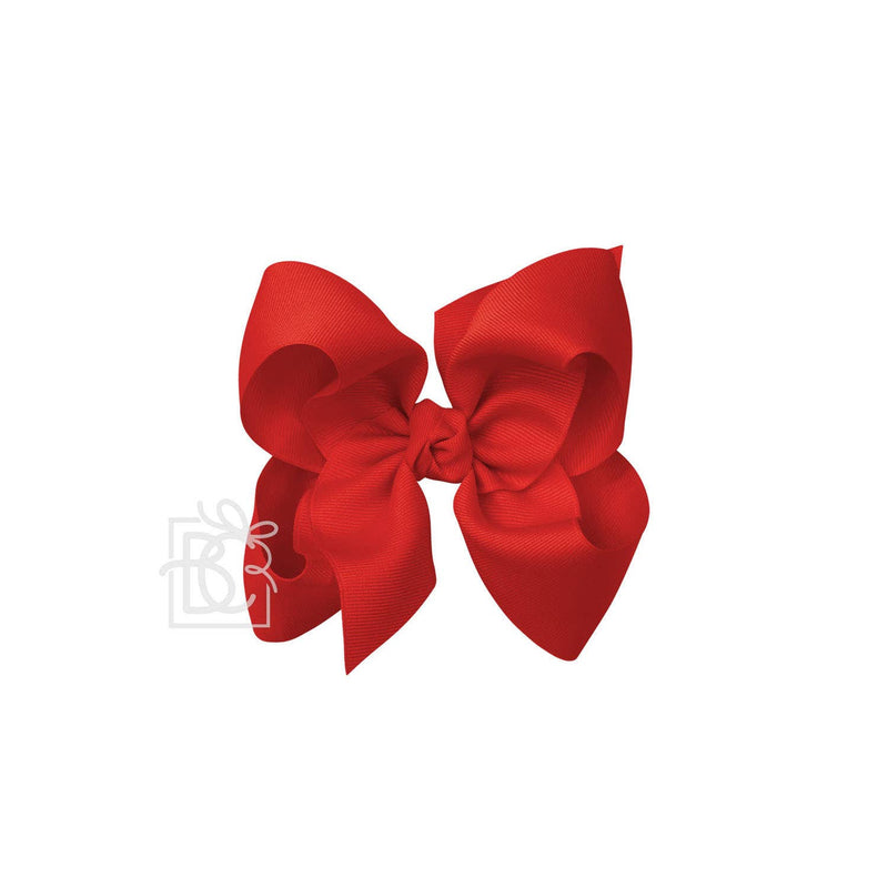 Signature Red Bow on Alligator Clip