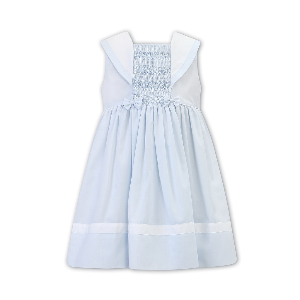 Sarah Louise Blue Smocked Dress