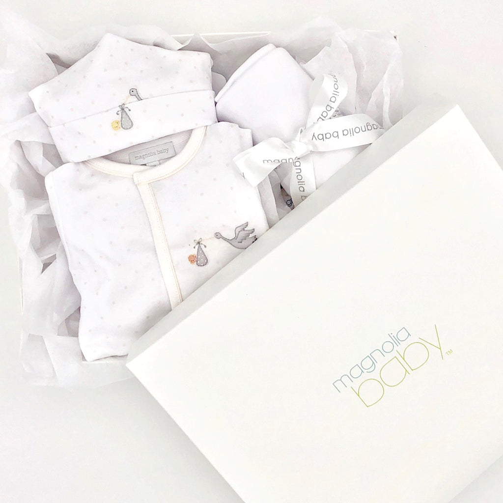 Magnolia Baby Unisex Worth The Wait Embroidered Sleepsuit Set