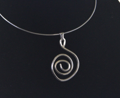 Hammered  Solid Sterling Silver Choker - MtBakerTradingCompany.com