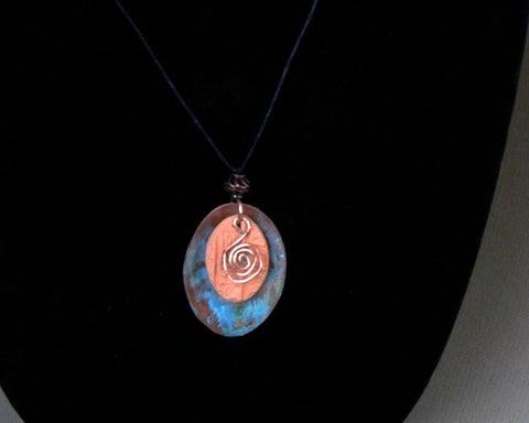 Copper and Cotta Aromatherapy Necklace   (Sold) - MtBakerTradingCompany.com
