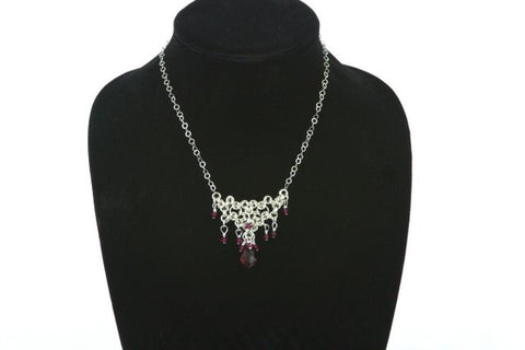 Silver Chainmaille Necklace - MtBakerTradingCompany.com