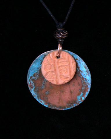 Copper and Cotta Aromatherapy Necklace - MtBakerTradingCompany.com
