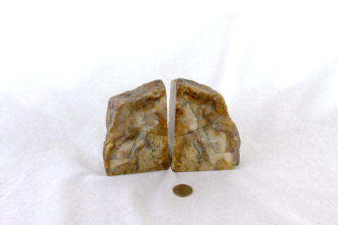 Fernley Agate Bookends - MtBakerTradingCompany.com