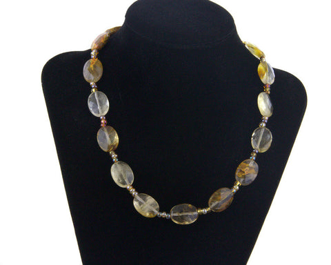 "16"" Agate Necklace - MtBakerTradingCompany.com"