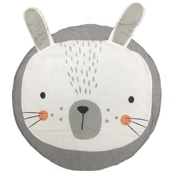 Playmat - rabbit grey