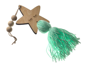 Wooden Hanger - star NYH-DC07