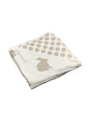 Blanket - rabbit & dots beige