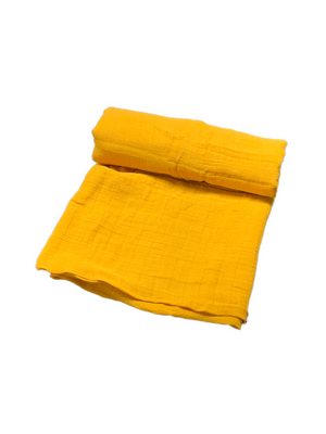 Mini Swaddle Bamboo - mustard